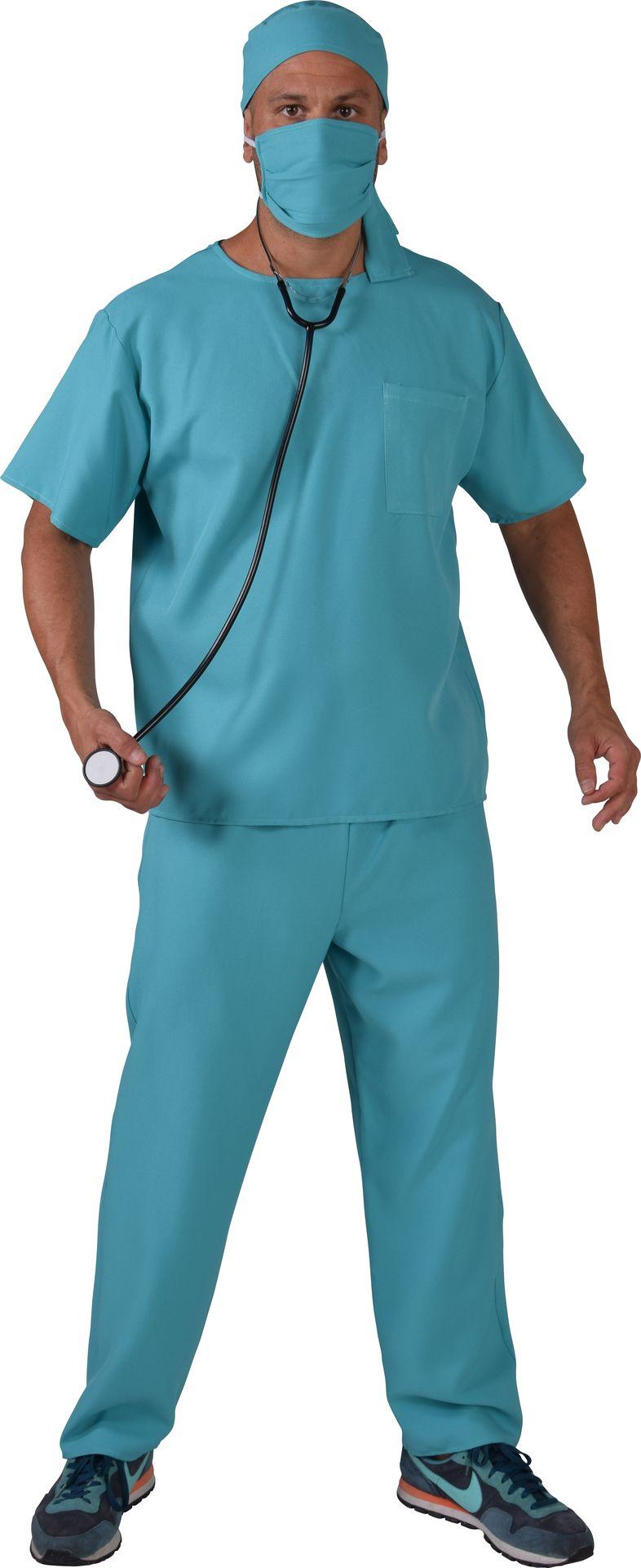 Blauw kostuum chirurg heren