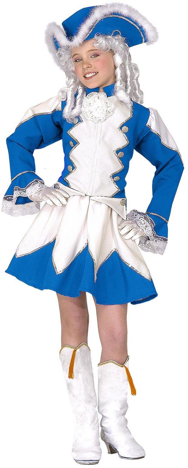 Blauw majorette kostuum kind