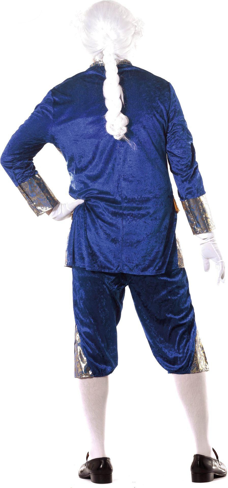Blauw markies kostuum