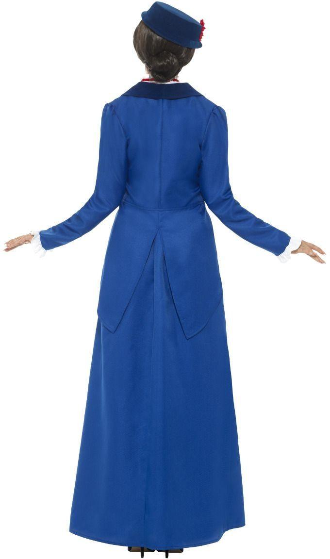 Blauw Mary Poppins kostuum