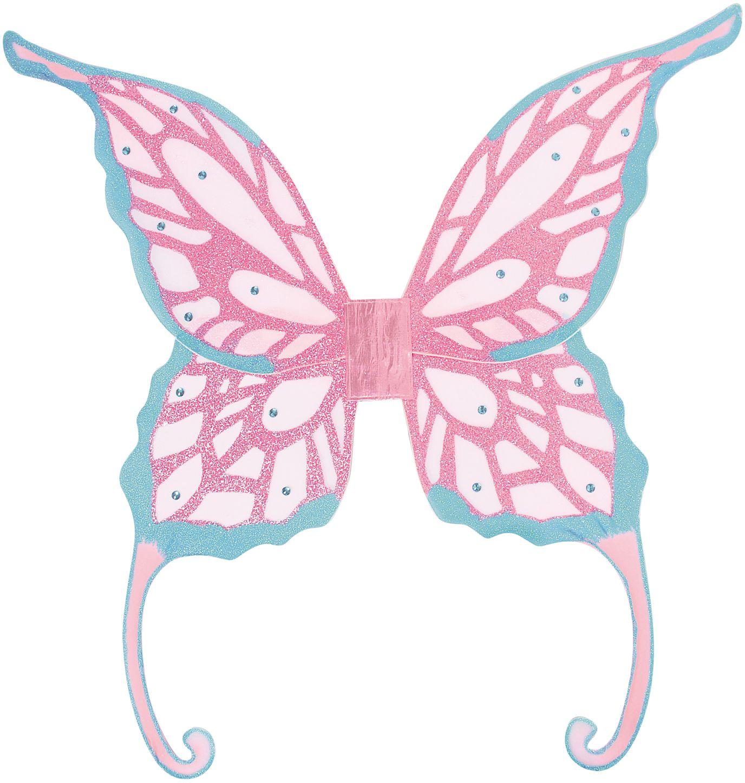 Blauw paarse glitter vleugels Fee