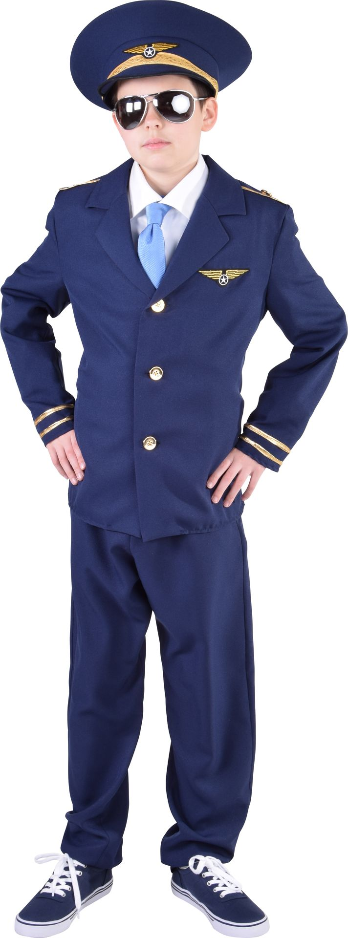 Blauw piloten pak jongens
