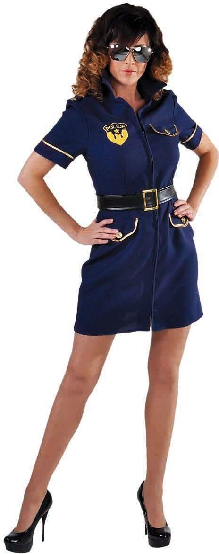 Blauw politie jurk dames