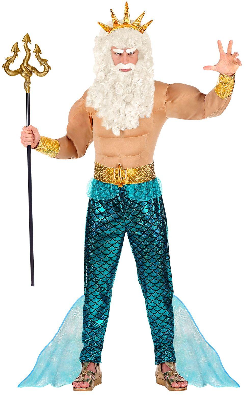 Blauw Poseidon mannen pak