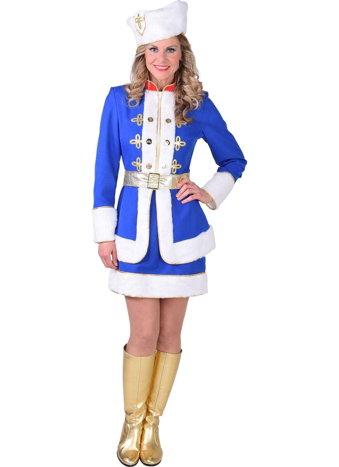 Blauw Russisch carnavals pak dames