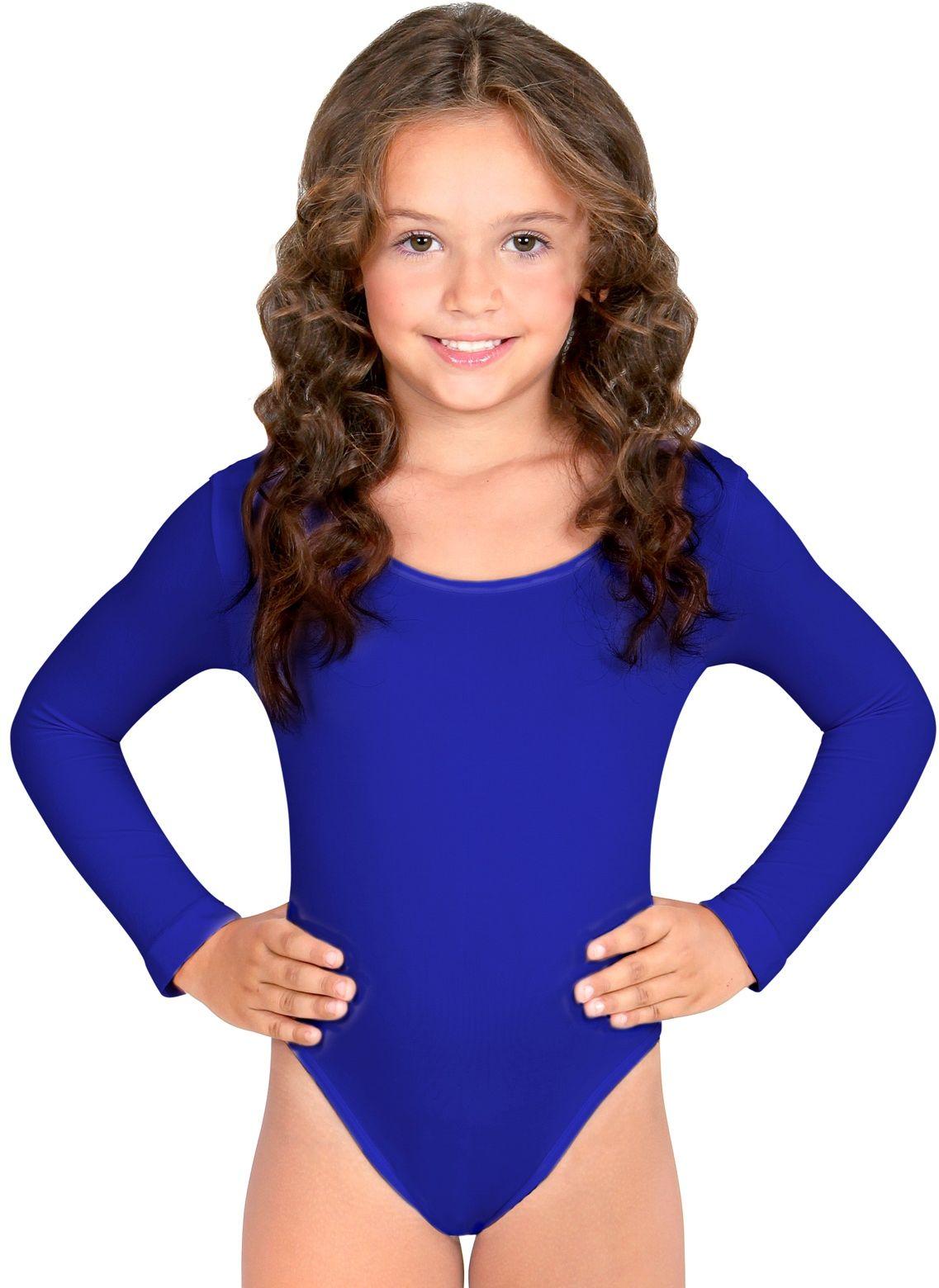 Blauw turnpak meisjes