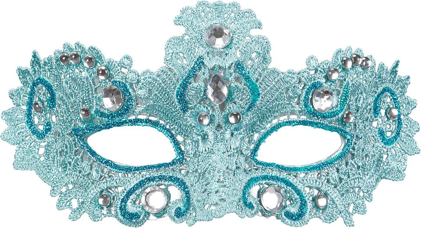 Blauw venetiaans oogmasker