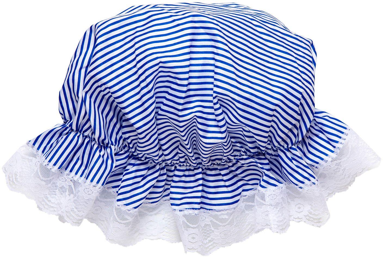 Blauw witte bonnet