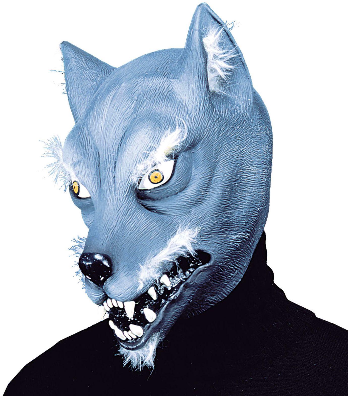 Blauw wolven masker