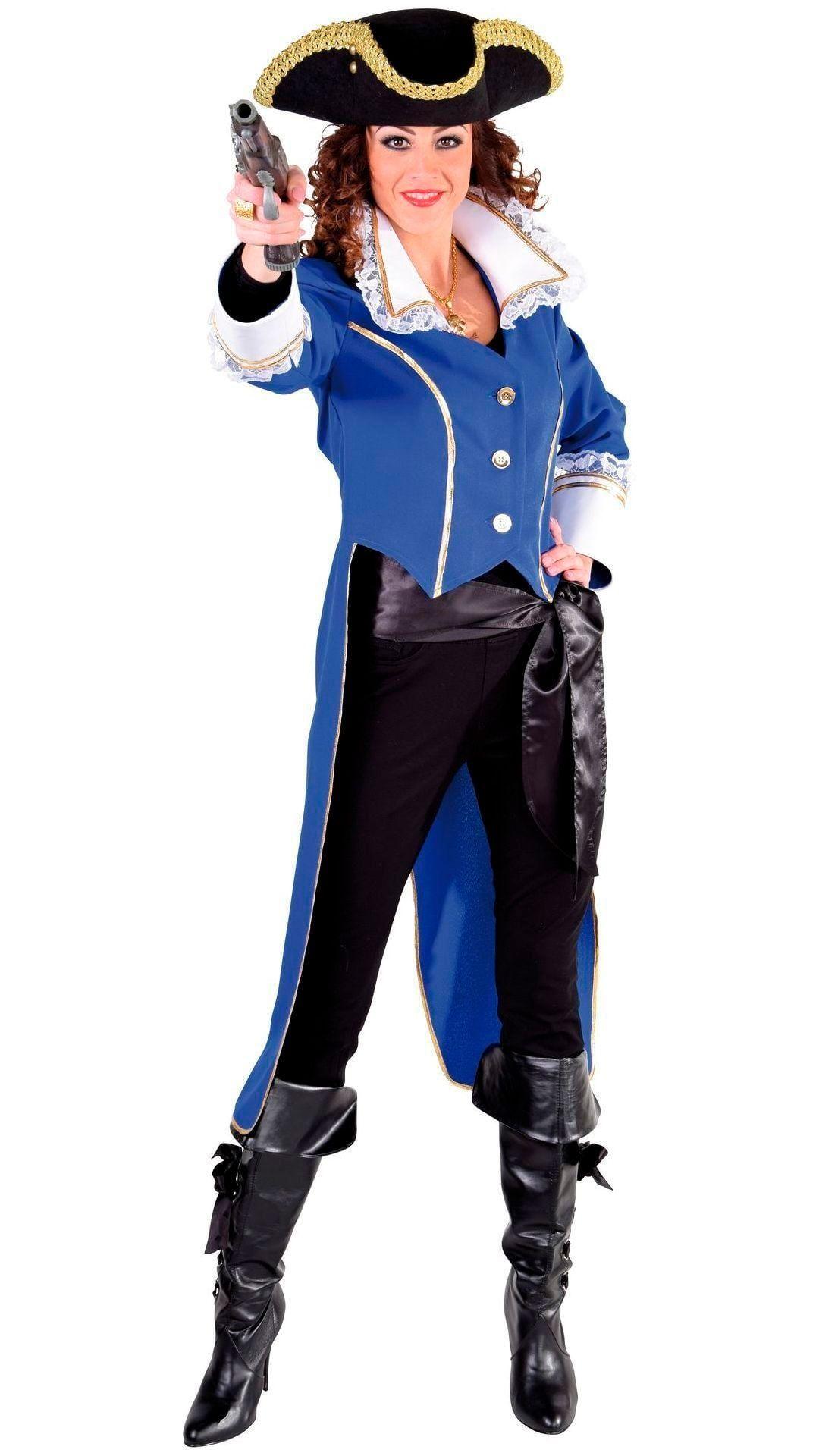 Blauwe admiraal slipjas dames
