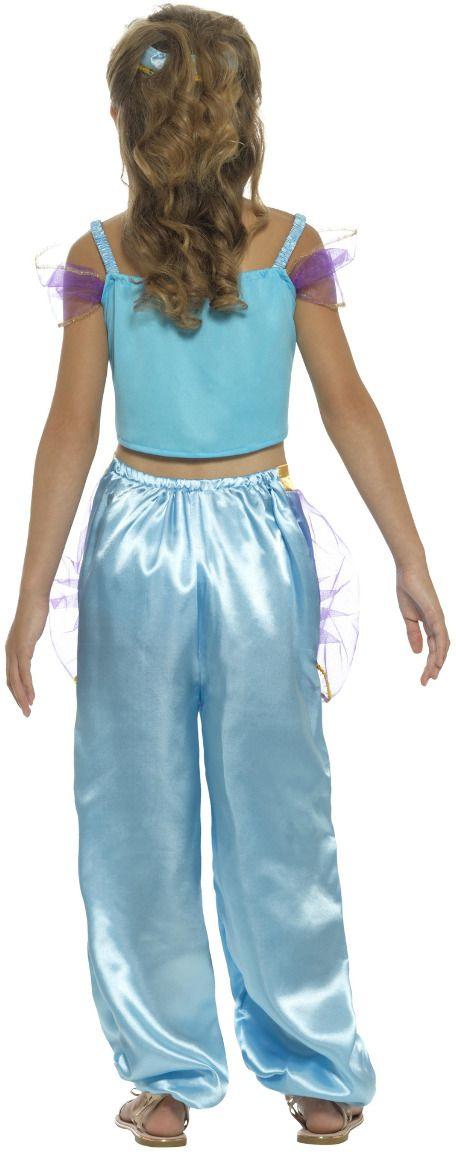 Blauwe arabische prinses kostuum