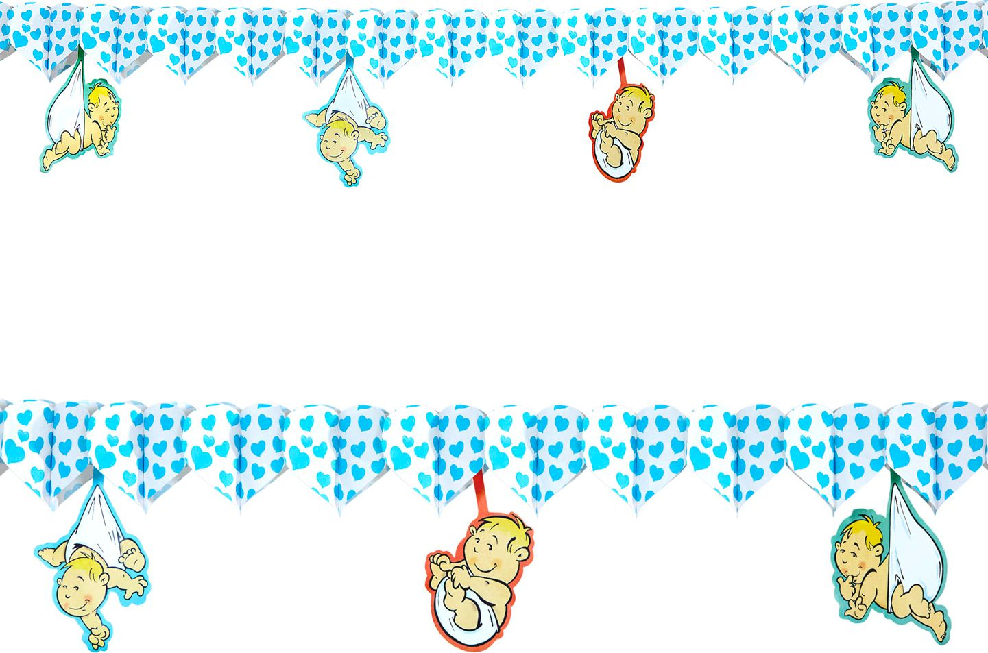 Blauwe baby slingers
