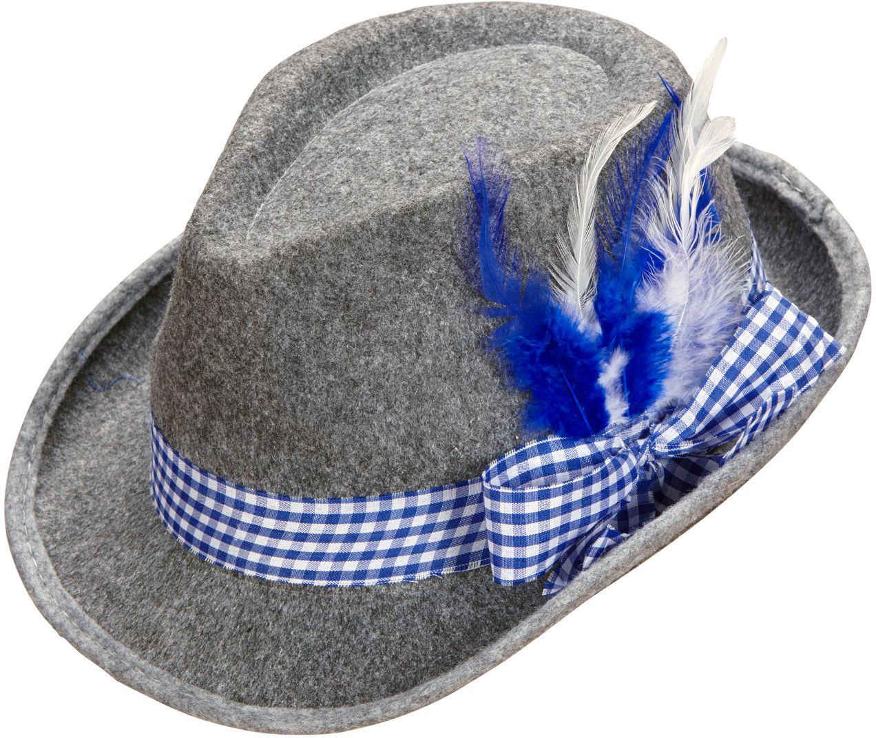 Blauwe beierse fedora