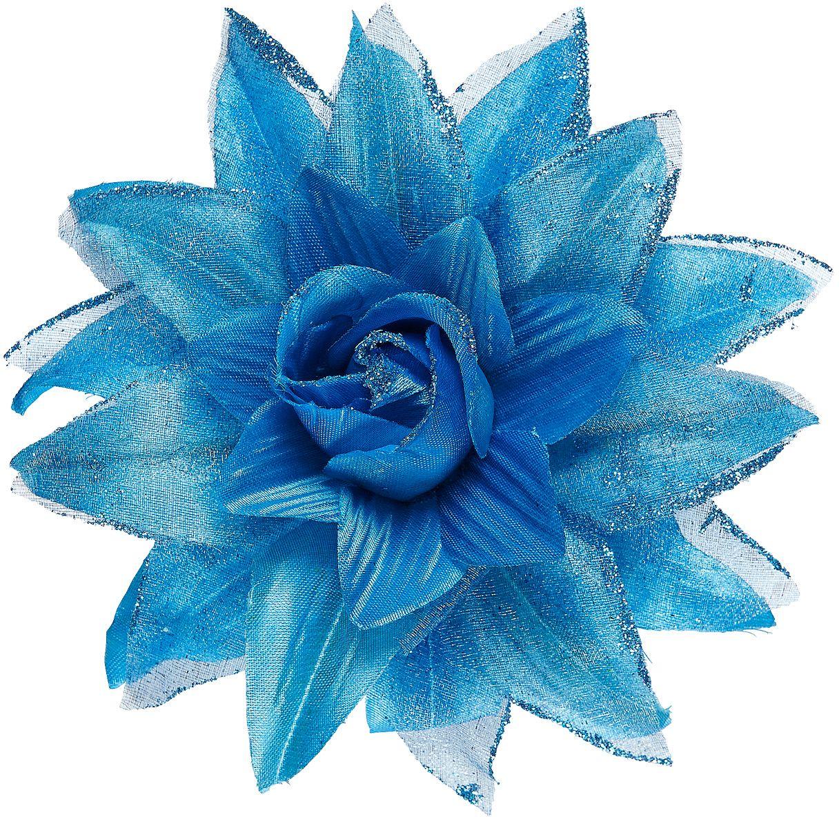 Blauwe bloem haarclip