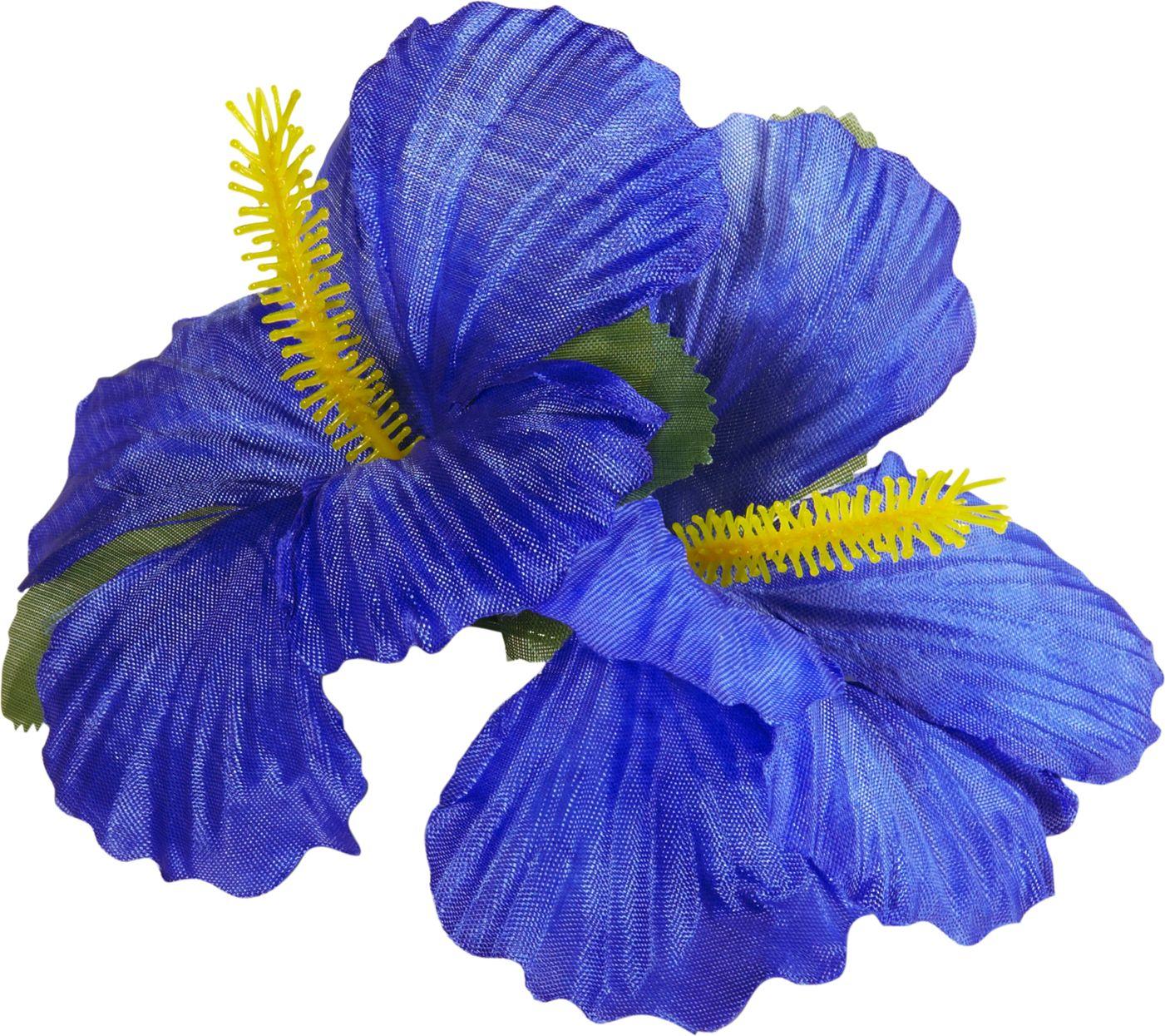 Blauwe bloemen haarclip