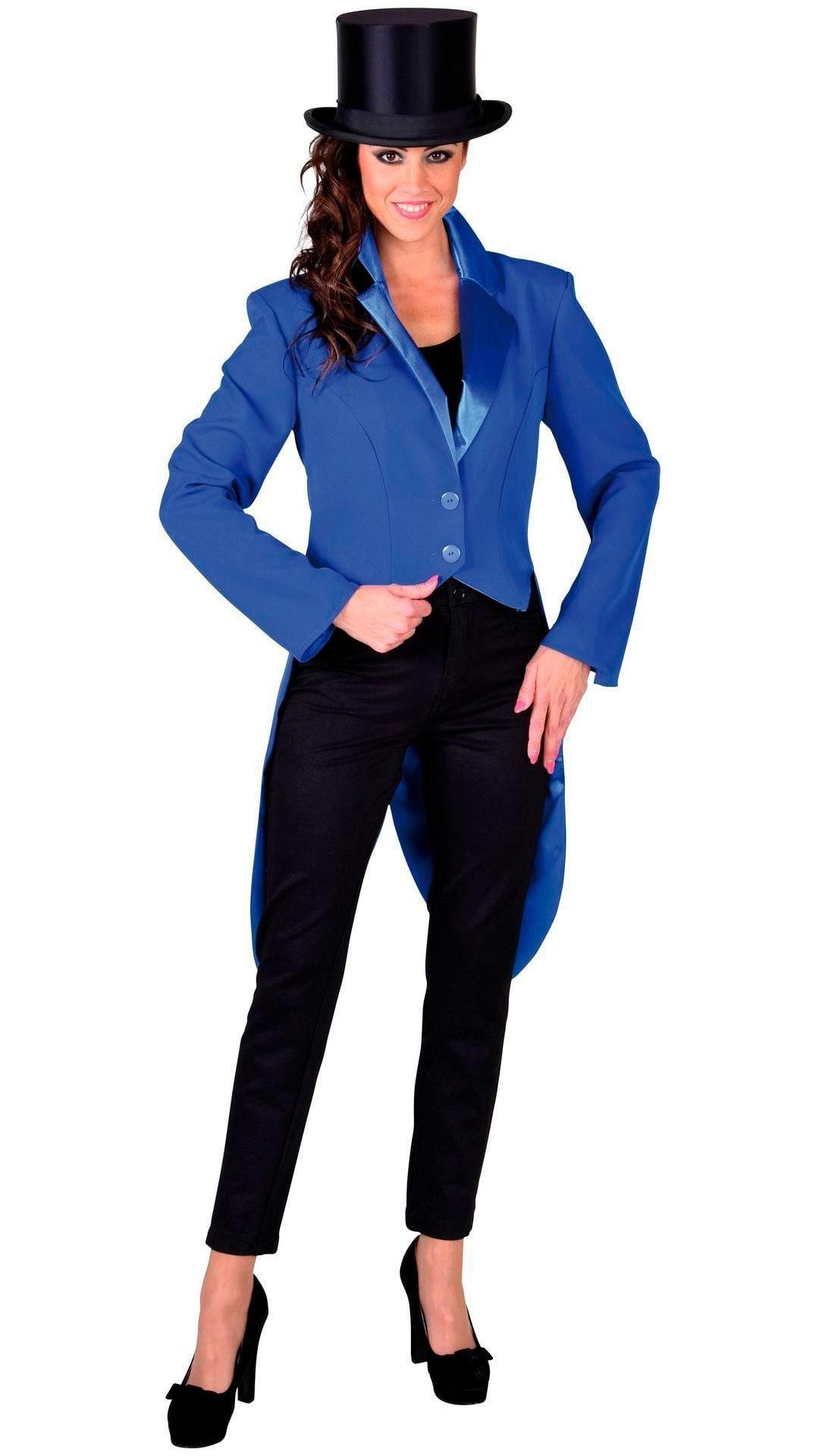 Blauwe cabaret slipjas dames