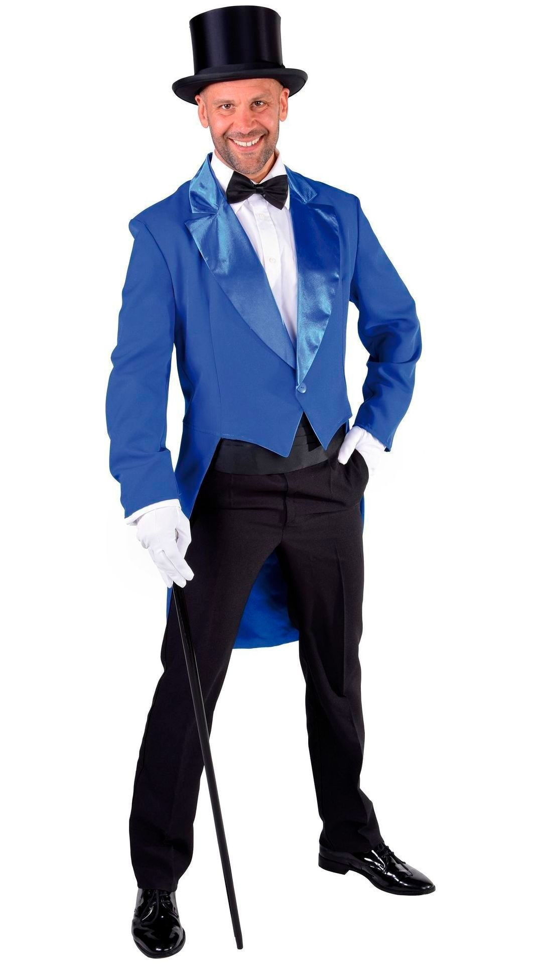 Blauwe carnaval slipjas heren