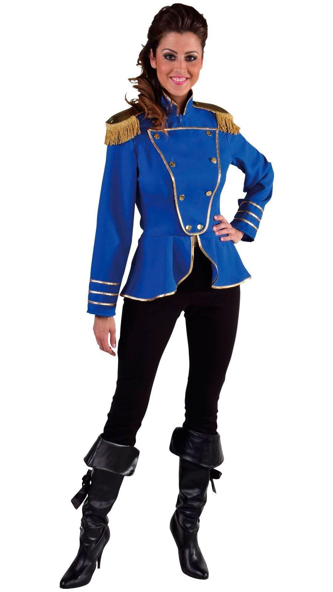 Blauwe circus jas vrouw