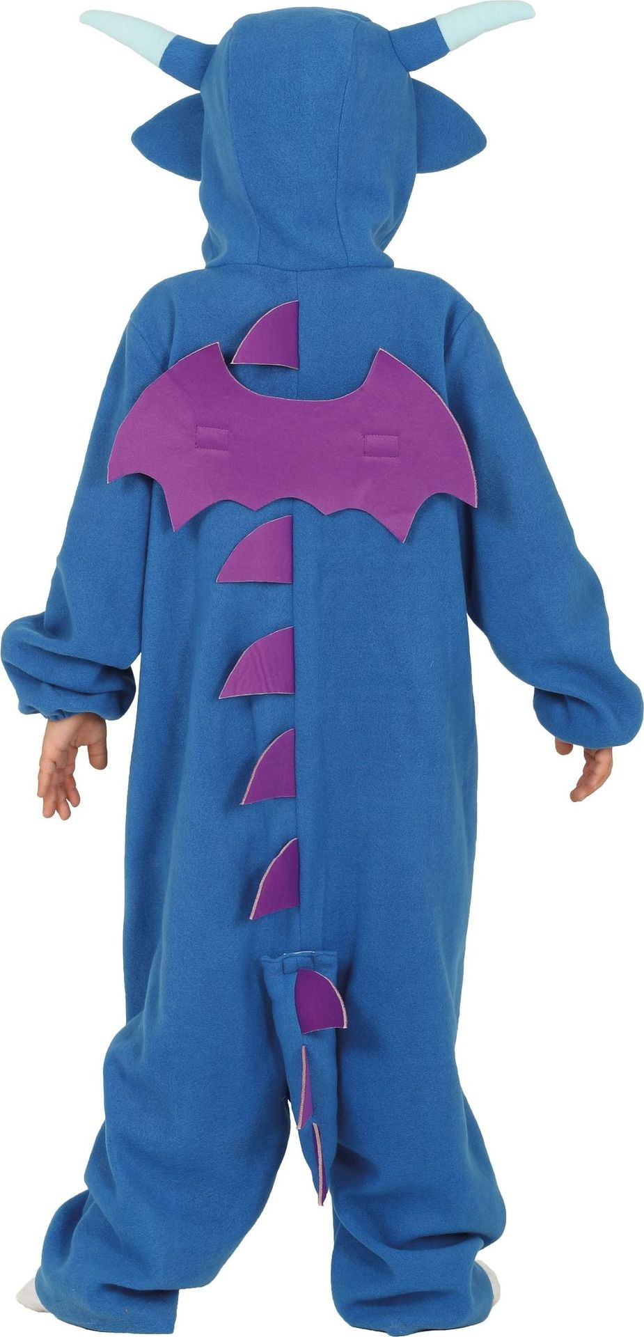 Blauwe draak kind kostuum