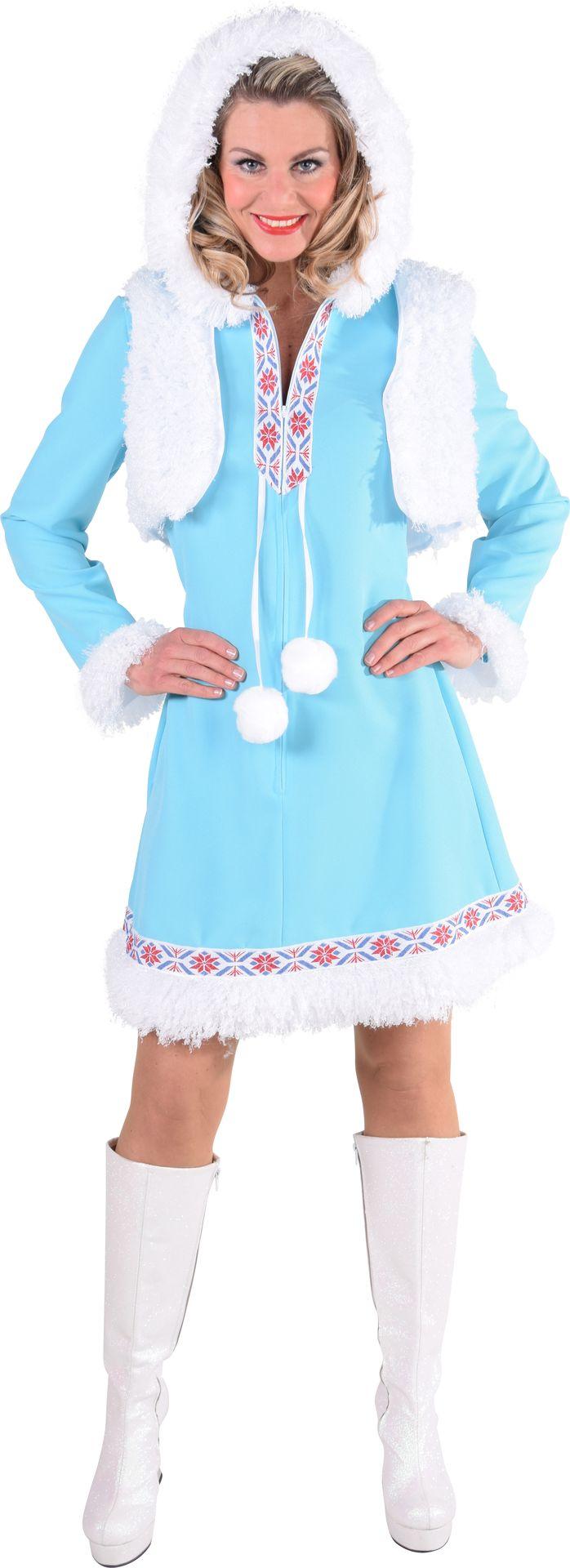 Blauwe eskimo jurk dames