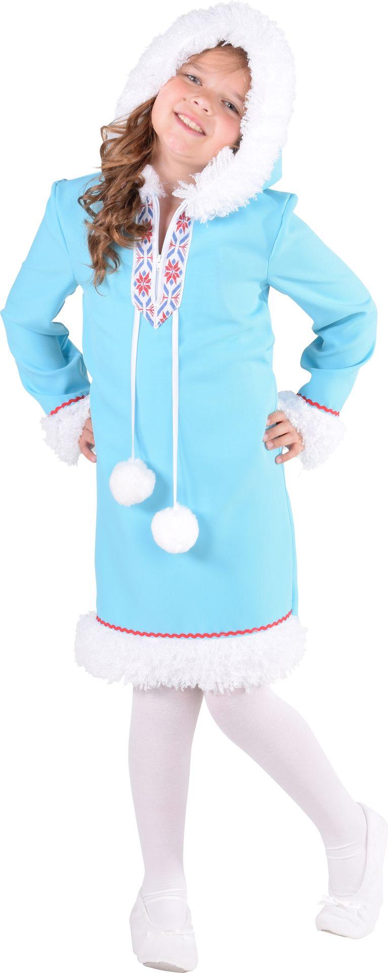Blauwe eskimo pak meisjes