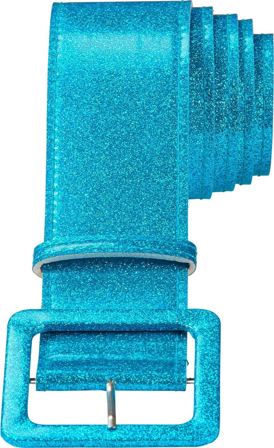 Blauwe glitter riem dames