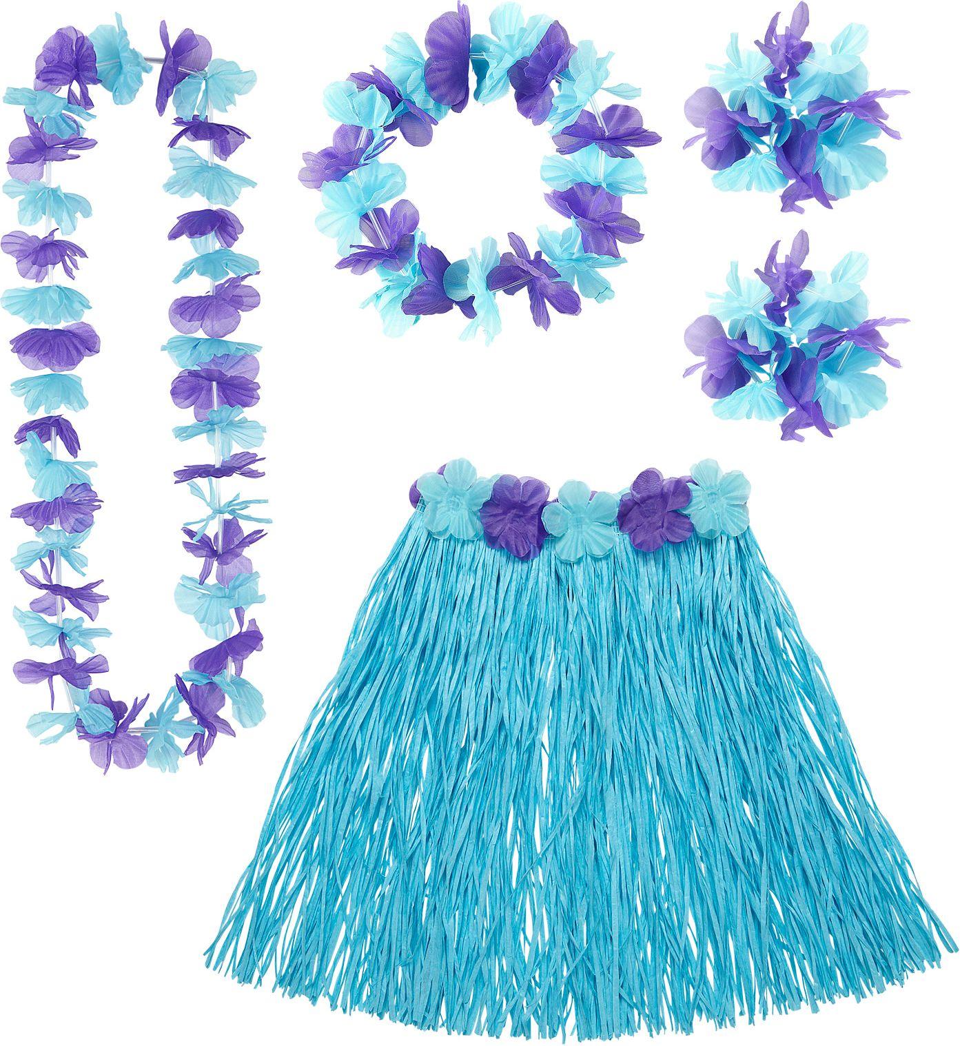 Blauwe Hawaii set