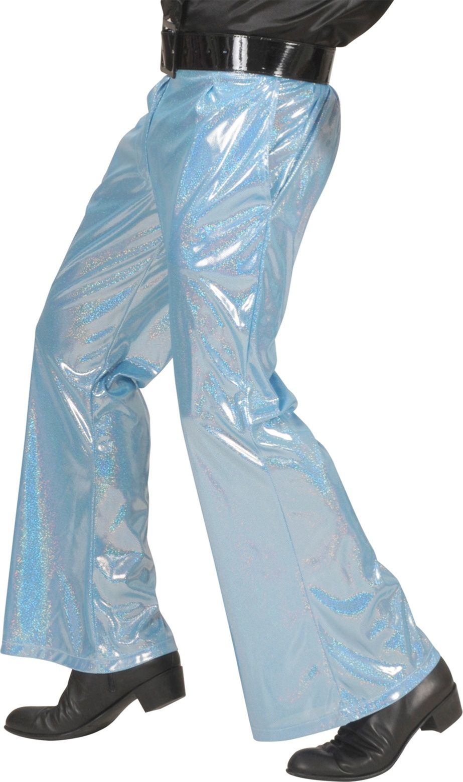 Blauwe holografische broek
