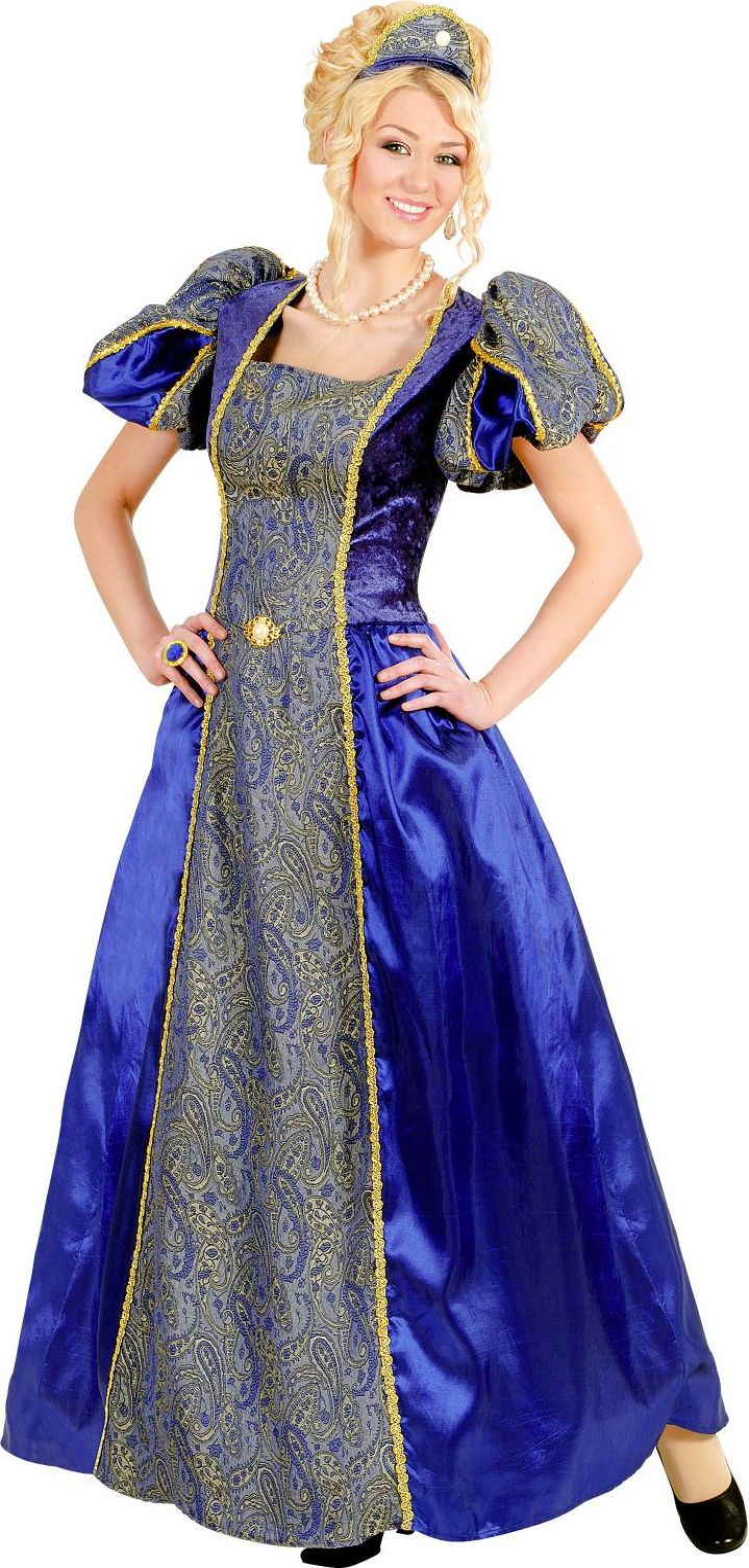 Blauwe koningin kostuum