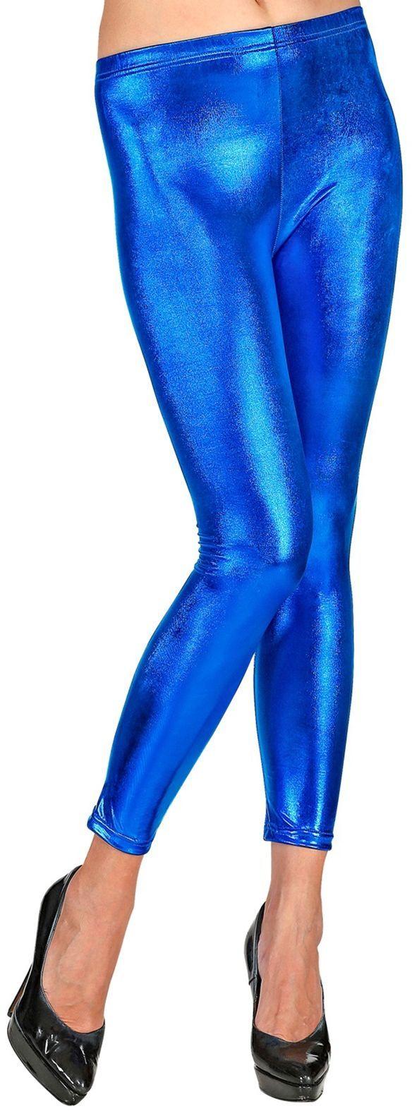 Blauwe legging dames