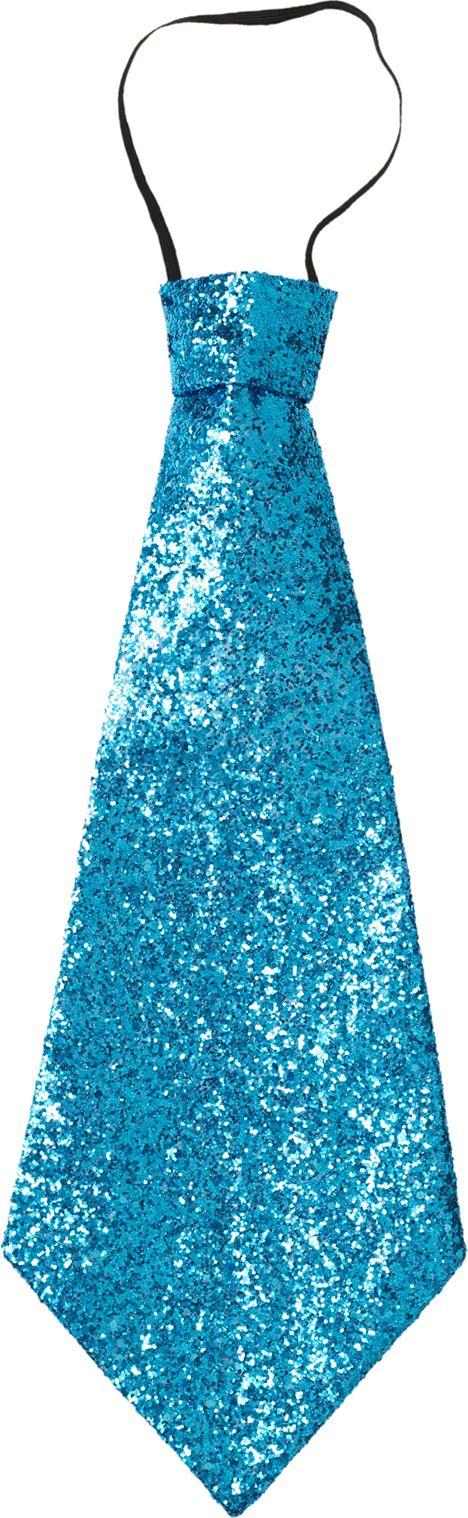 Blauwe lurex stropdas