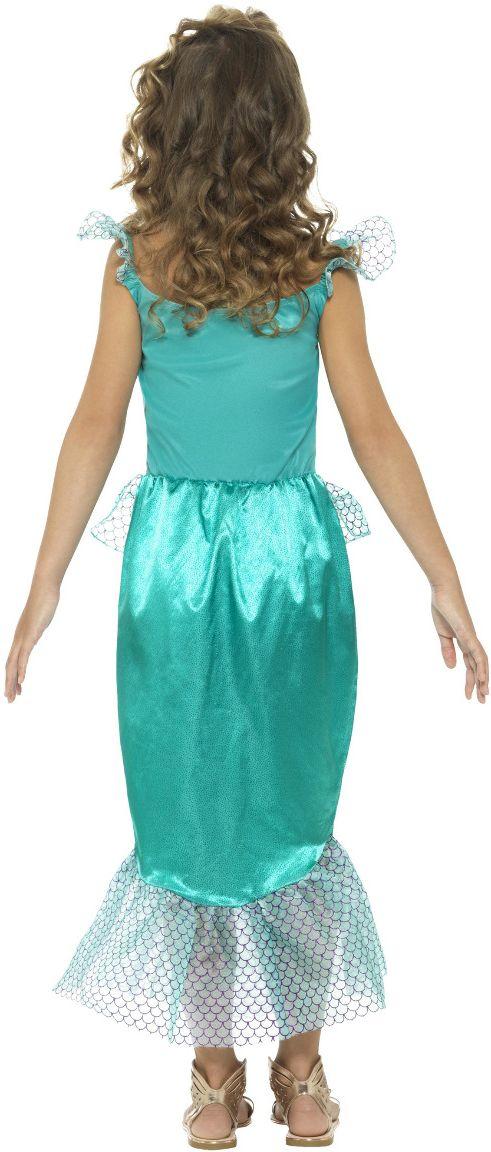 Blauwe luxe meisjes zeemeerminnen pakje