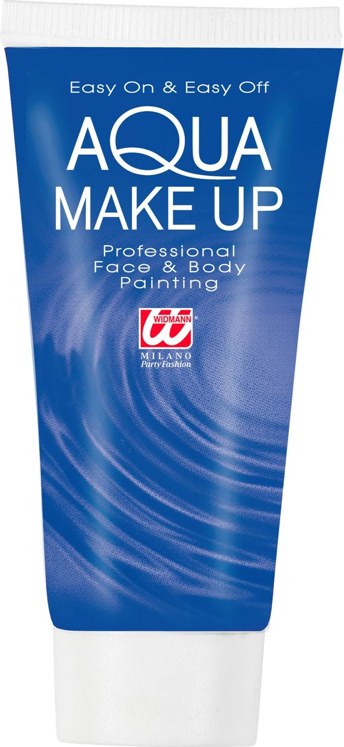 Blauwe make-up tube waterbasis