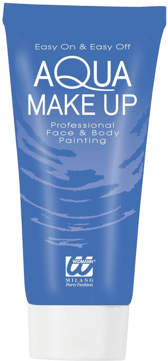 Blauwe make-up tube waterbasis
