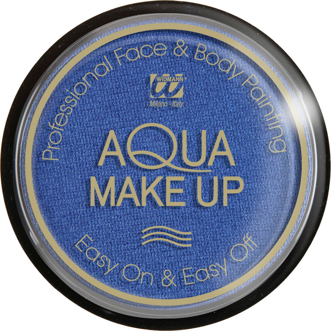 Blauwe make-up waterbasis metallic