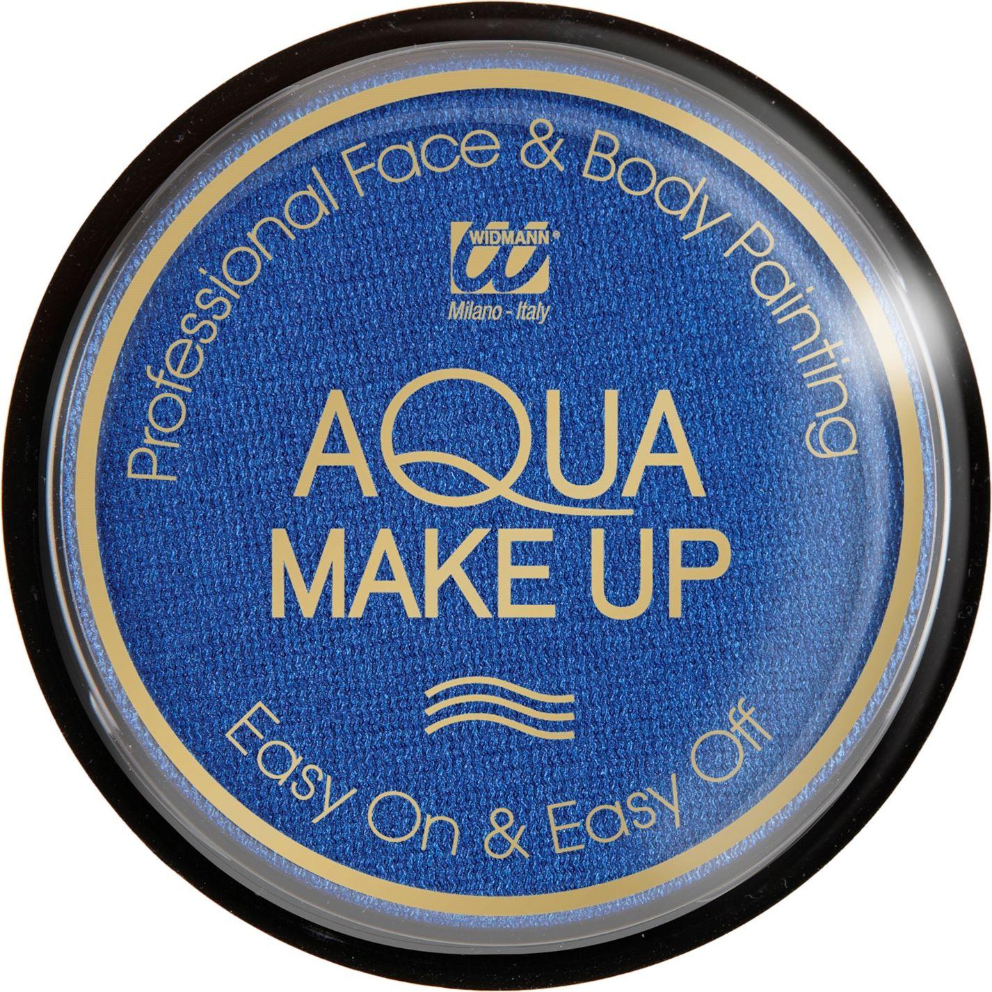 Blauwe make-up waterbasis metallic