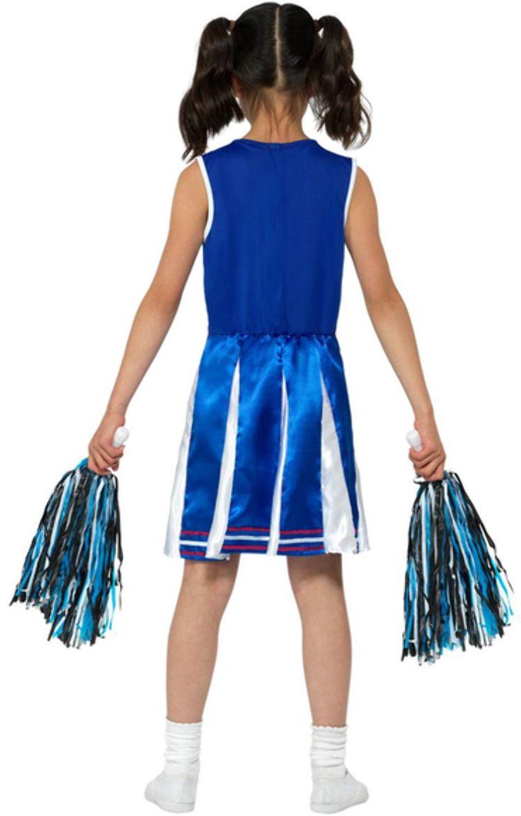 Blauwe meisjes cheerleader pakje