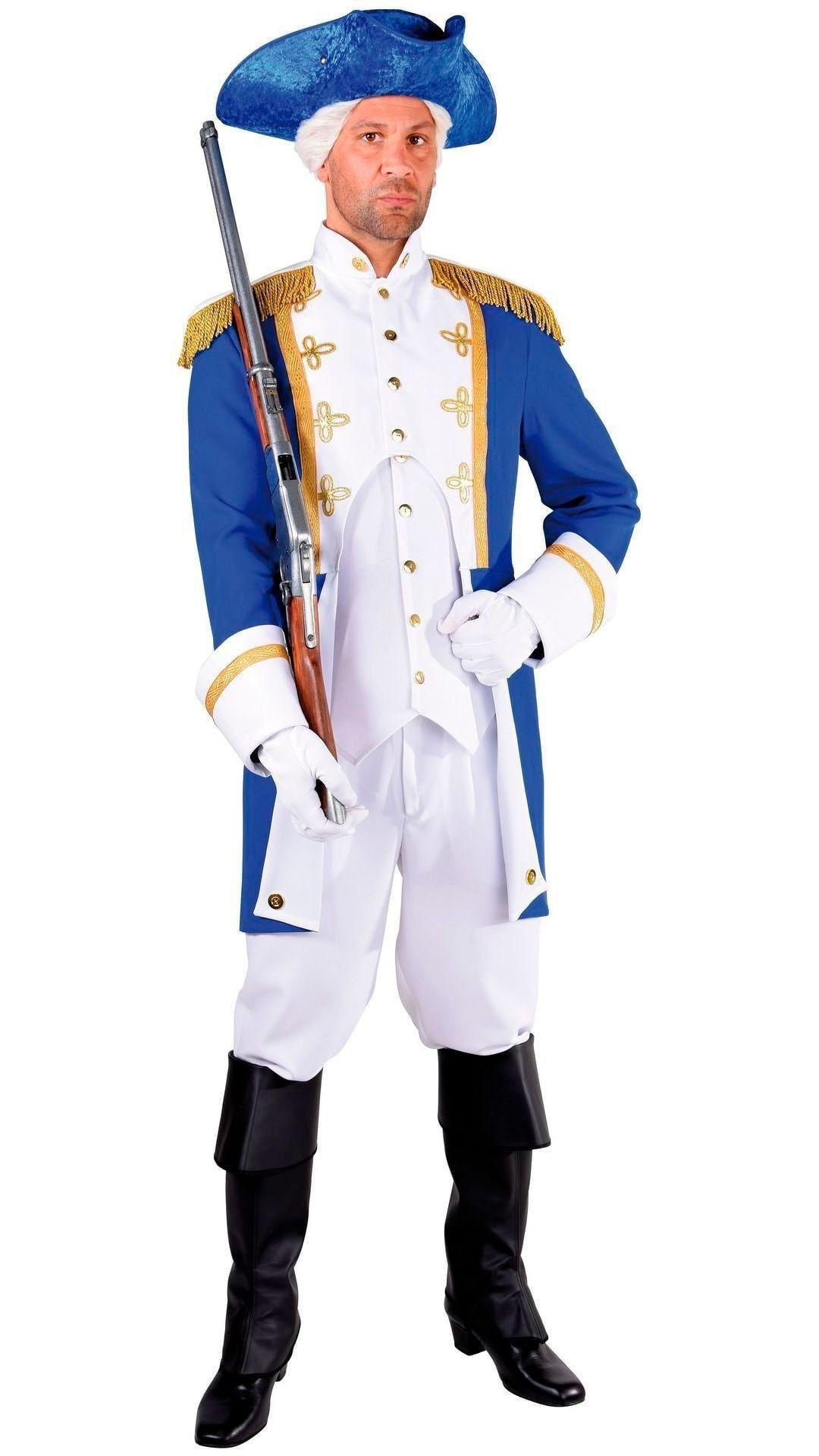 Blauwe officiers jas man