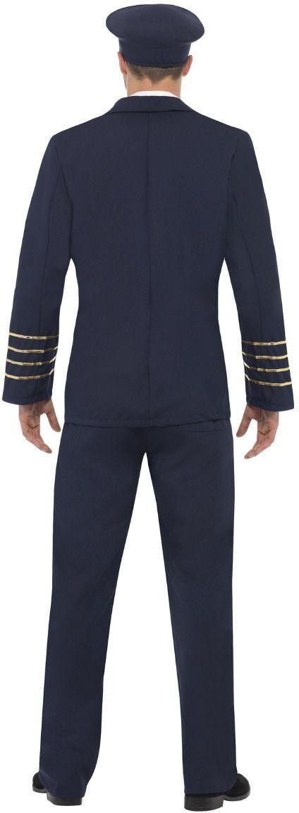 Blauwe piloot kostuum