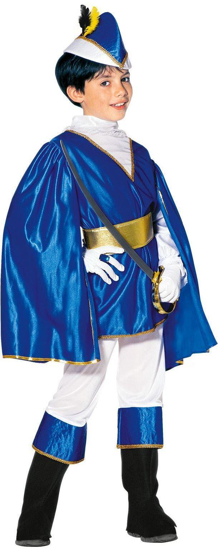 Blauwe prins kind kostuum