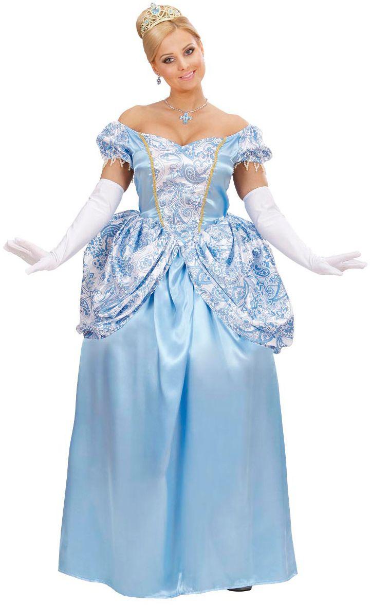 Blauwe prinses kostuum