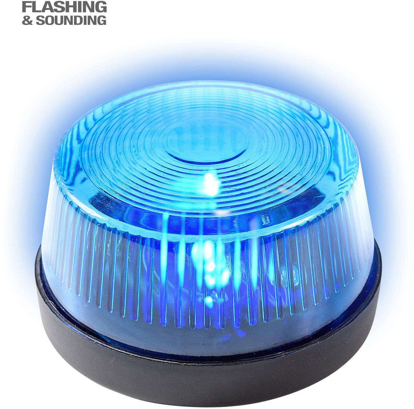 Blauwe sirene met geluid
