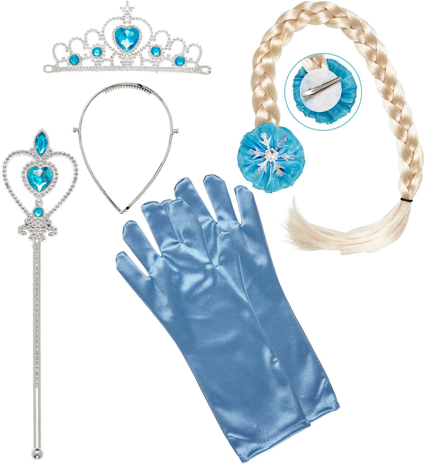Blauwe sneeuwprinses sieraden set