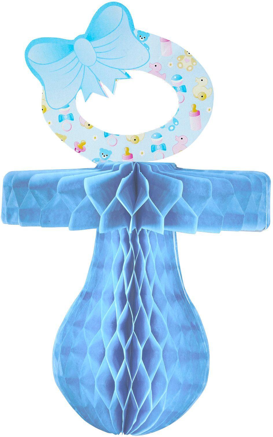 Blauwe speen decoratie