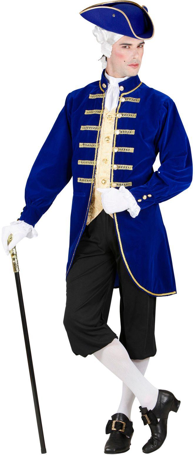 Blauwe Venetiaanse edelman kostuum