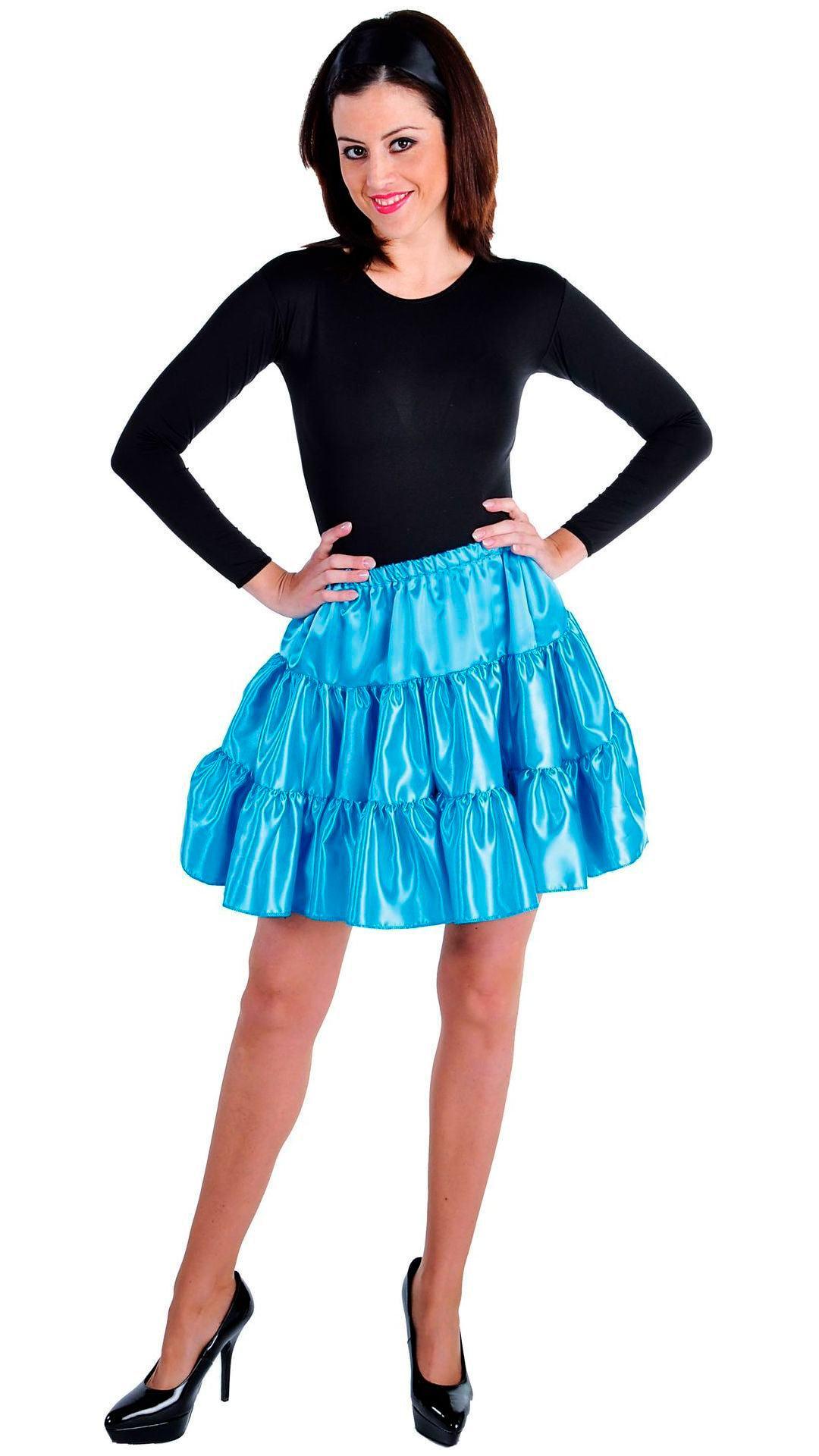 Blauwe volangen rok vrouwen kort