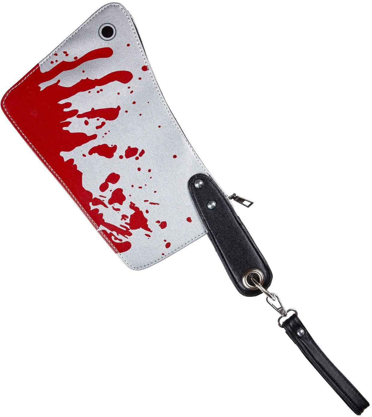 Bloederig mes slager portemonnee
