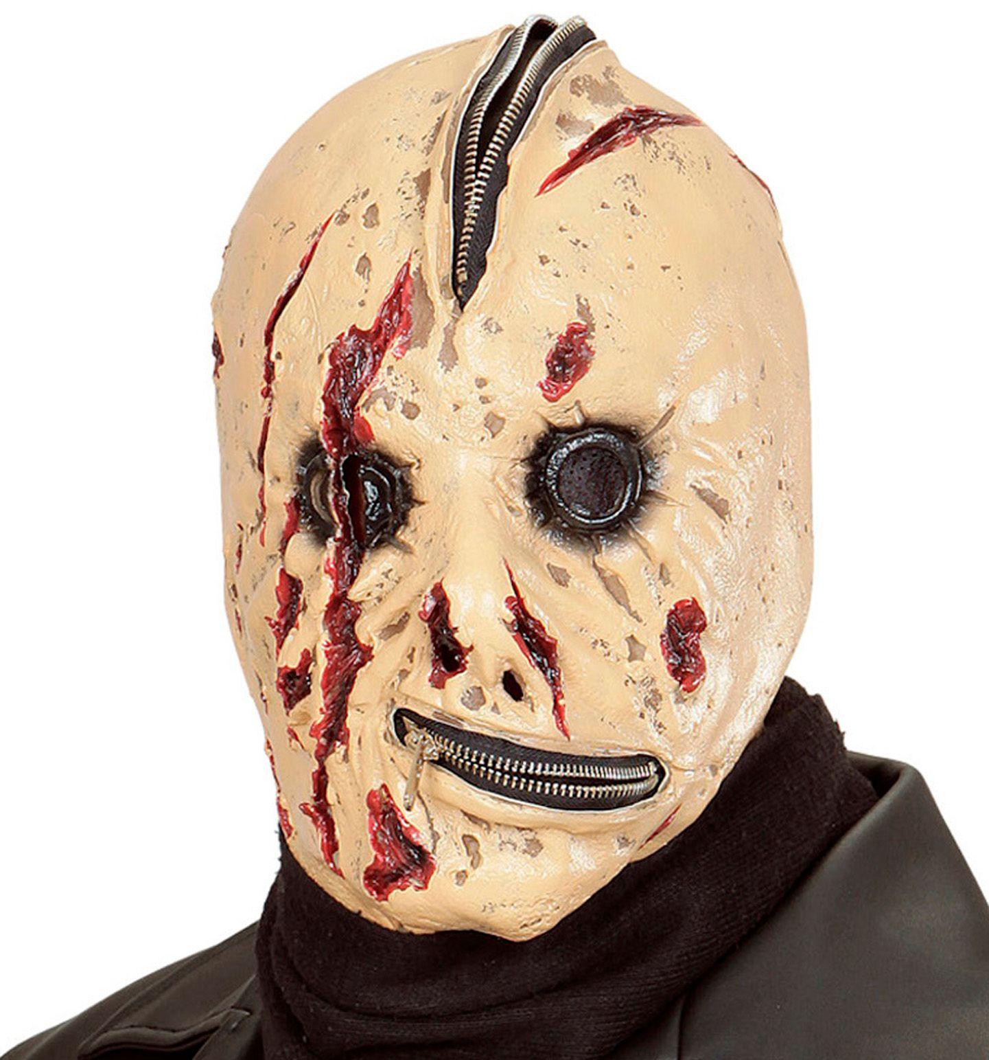 Bloederig monster masker met rits