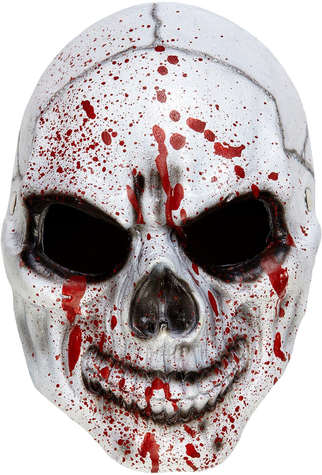 Bloederig schedel masker