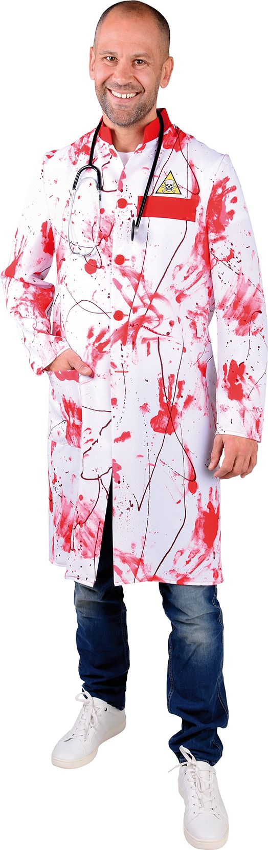 Bloederige doktersjas mannen